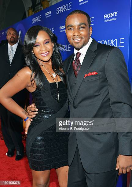 Bobbi Kristina Brown and Nick Gordon arrive at the Los Angeles Premiere of 'Sparkle' at Grauman's Chinese Theatre on August 16 2012 in Hollywood...
