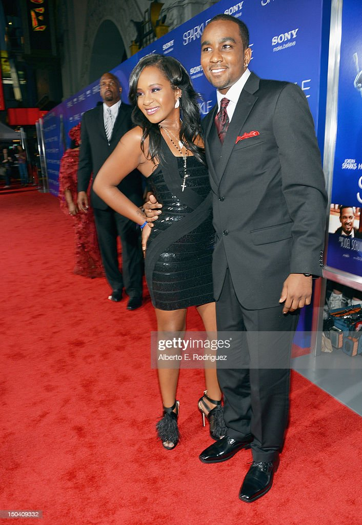 Bobbi Kristina Brown (L) and Nick Gordon arrive at the Los Angeles Premiere of 'Sparkle' at Grauman's Chinese Theatre on August 16, 2012 in Hollywood, California.