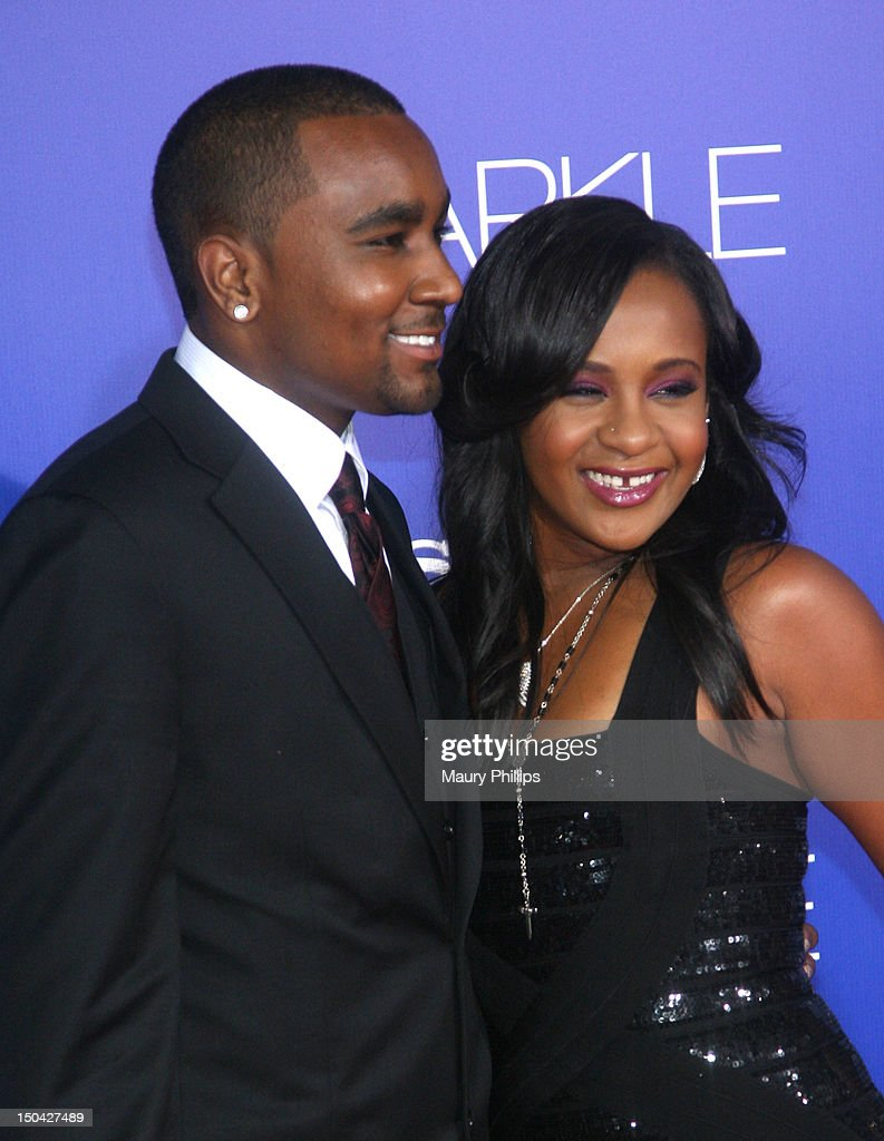 Bobbi Kristina Brown (R) and Nick Gordon arrive at the Los Angeles Premiere of 'Sparkle' at Grauman's Chinese Theatre on August 16, 2012 in Hollywood, California.