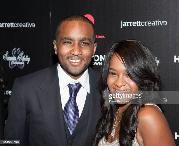 Bobbi Kristina Brown and Nick Gordon attends 'The Houstons On Our Own' Series Premiere Party at Tribeca Grand Hotel on October 22 2012 in New York...