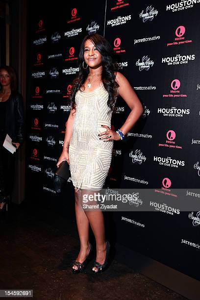 Bobbi Kristina Brown attends 'The Houstons On Our Own' series premiere party at the Tribeca Grand Hotel on October 22 2012 in New York City