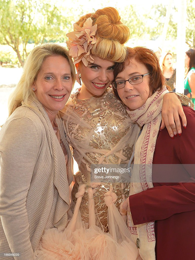 Bobbie Jacobs, <a gi-track='captionPersonalityLinkClicked' href=/galleries/search?phrase=Paloma+Faith&family=editorial&specificpeople=4214118 ng-click='$event.stopPropagation()'>Paloma Faith</a> and Claire Parr pose at the Sutter Home Winery at Live In The Vineyard on November 2, 2012 in Napa, California.