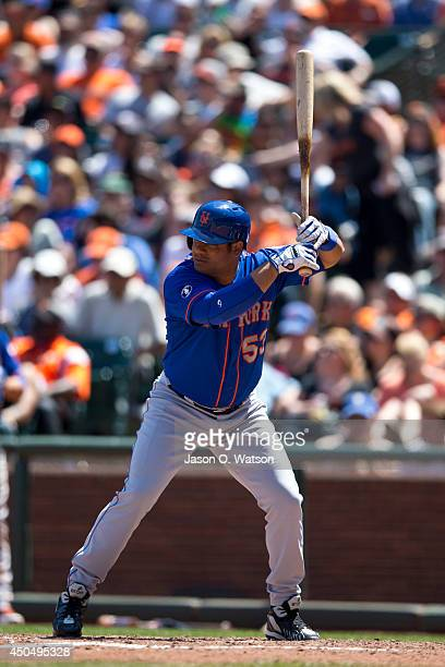 Bobby Abreu of the New York Mets at bat against the San Francisco Giants during the fifth inning at ATT Park on June 8 2014 in San Francisco...