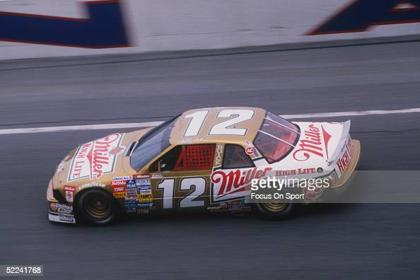 Bobby Allison drives in his Miller High Life Buick car before winning the Dayton 500 at the Daytona Speedway on Febuary 14 1988 in Daytona Beach...