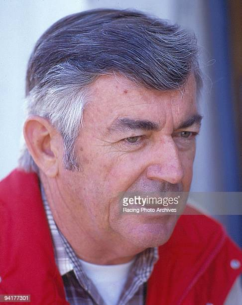 Bobby Allison gives an interview during the Busch 500 Allison would retire from driving the following year