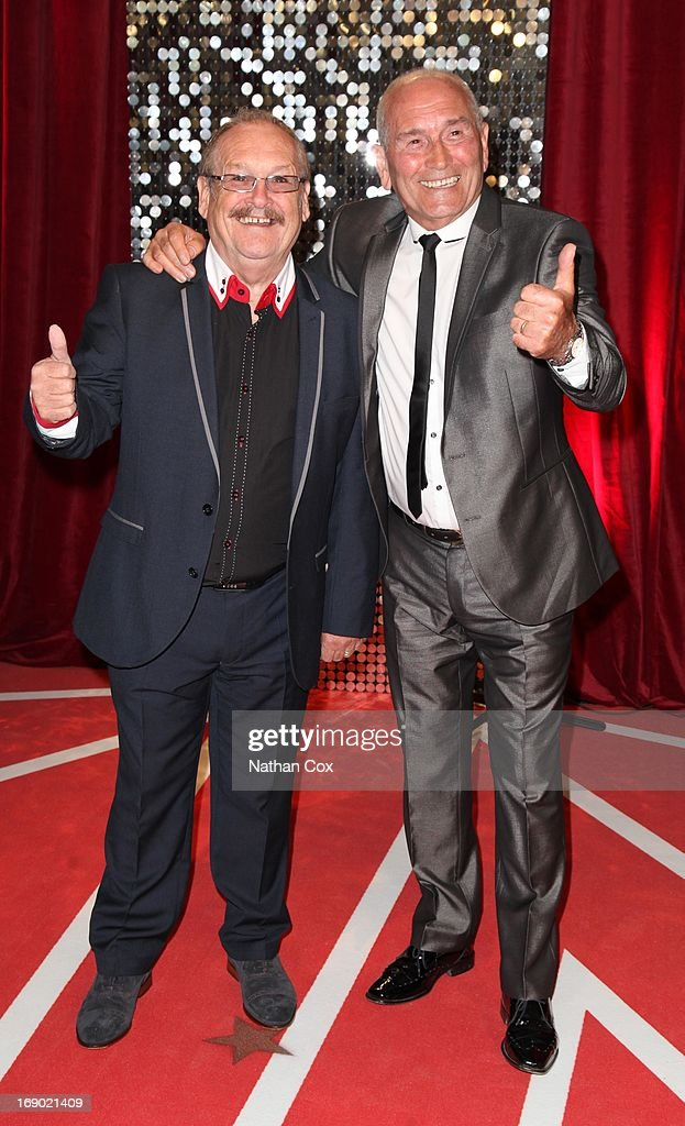 Bobby Ball and Tommy Cannon arrive at the British Soap Awards 2013 Red Carpet arrivals at Media City on May 18, 2013 in Manchester, England.