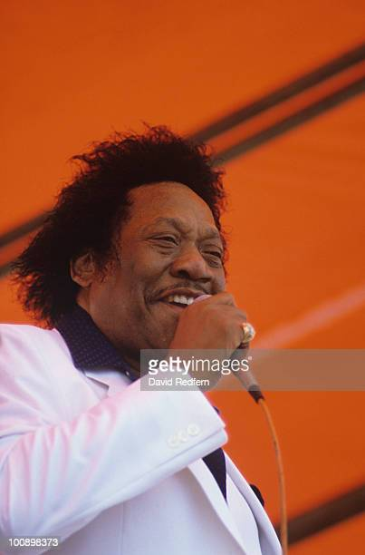 Bobby Blue Bland performs on stage at the New Orleans Jazz and Heritage Festival in New Orleans Louisiana on April 29 1984