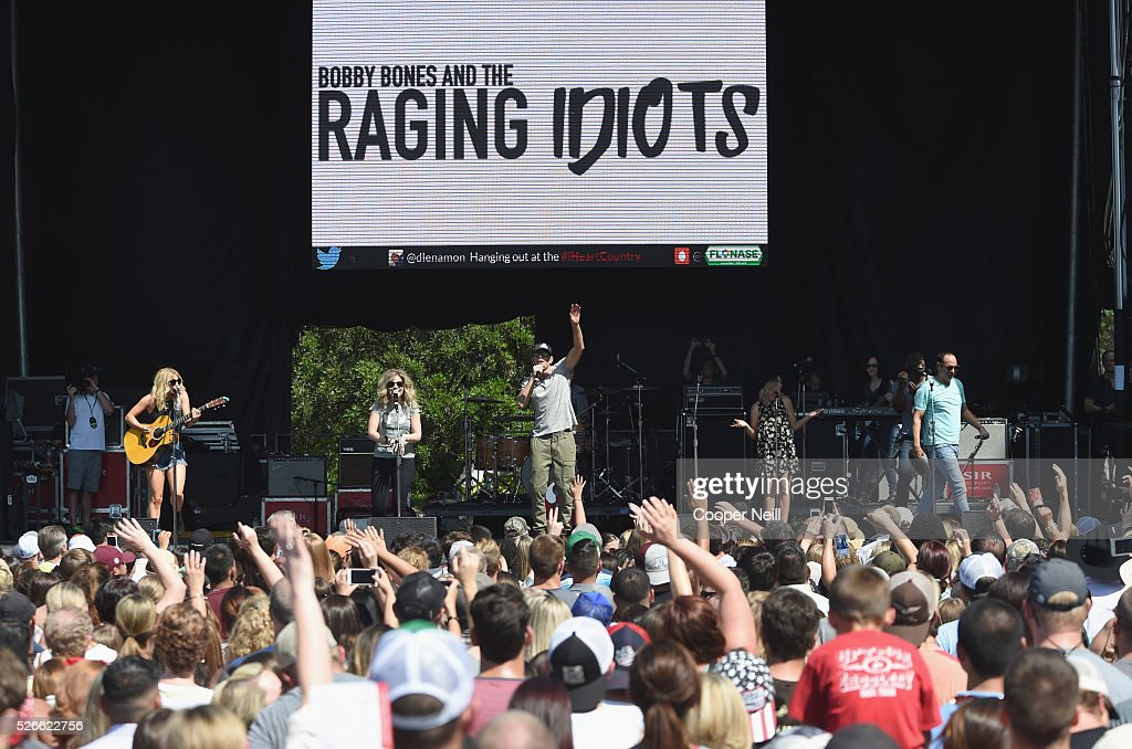 <a gi-track='captionPersonalityLinkClicked' href=/galleries/search?phrase=Bobby+Bones&family=editorial&specificpeople=9753112 ng-click='$event.stopPropagation()'>Bobby Bones</a> and The Raging Idiots perform live during the 2016 Daytime Village at the iHeartCountry Festival at The Frank Erwin Center on April 30, 2016 in Austin, Texas.