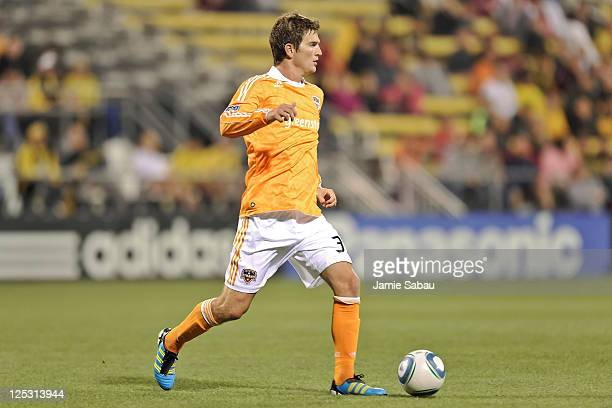Bobby Boswell of the Houston Dynamo controls the ball against the Columbus Crew on September 14 2011 at Crew Stadium in Columbus Ohio