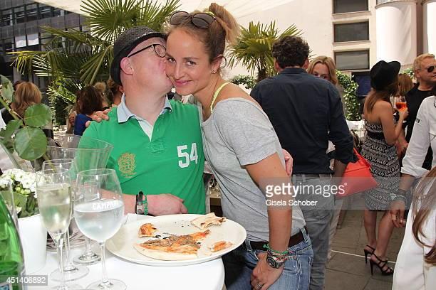 Bobby Brederlow and Lara Joy Koerner attend the 'Sommerfest der Agenturen' at H'ugo's on June 28 2014 in Munich Germany