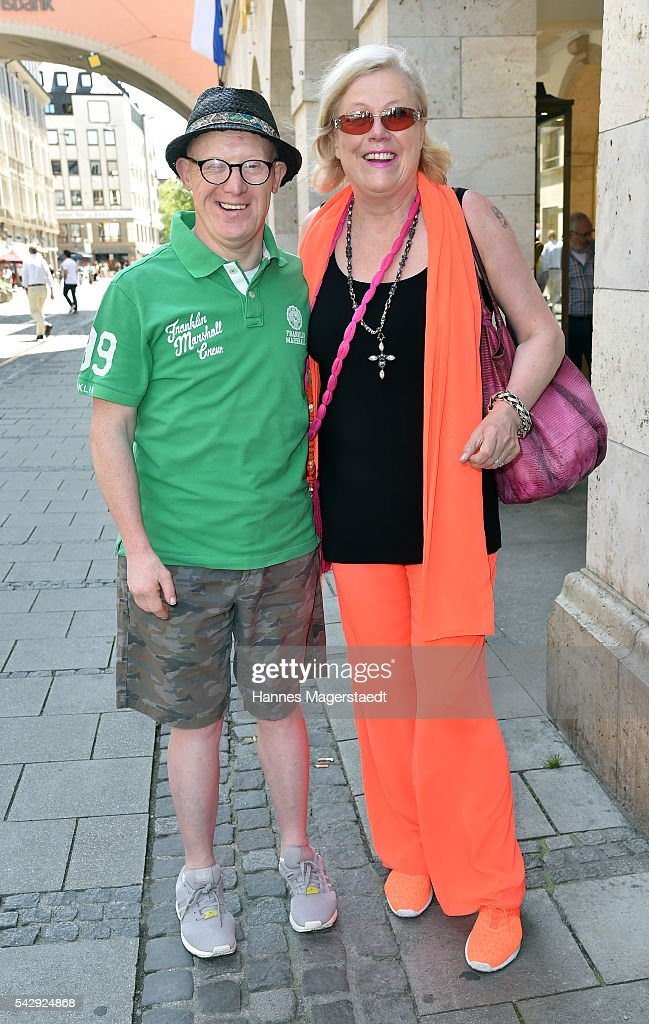 Bobby Brederlow and Susanne Wiebe during the 'Sommerfest der Agenturen' at Hugo's on June 25, 2016 in Munich, Germany.