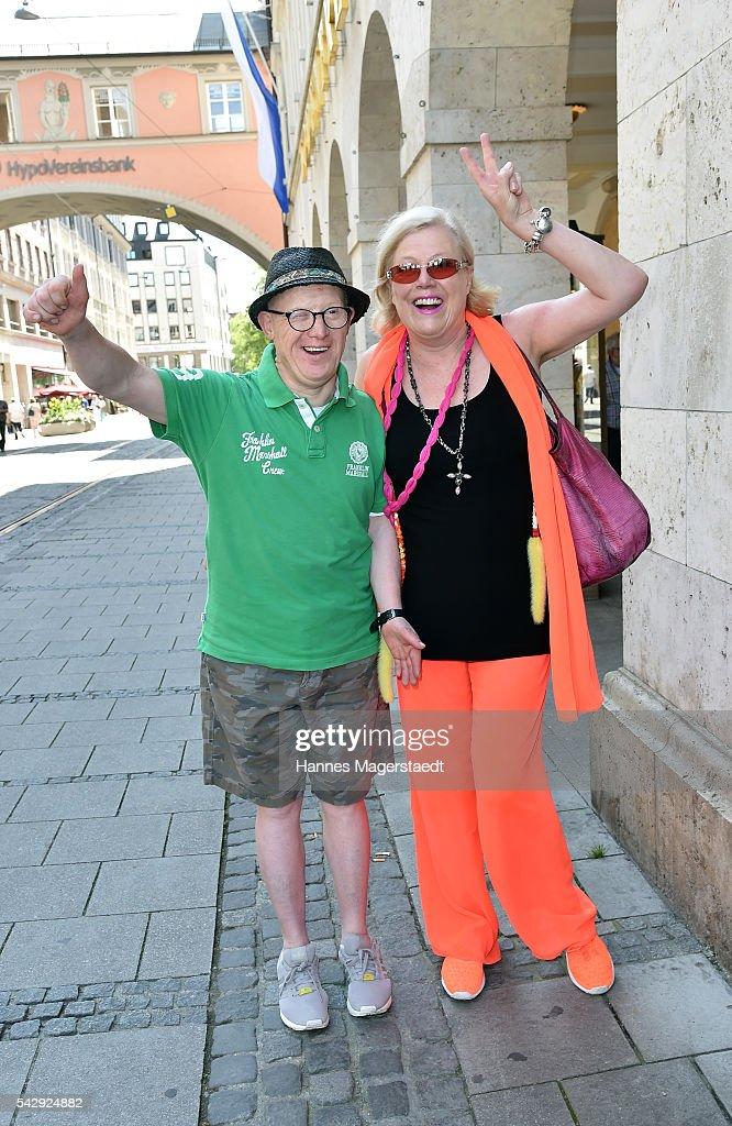 Bobby Brederlow and Susanne Wiebe during the 'Sommerfest der Agenturen' at Hugo's on June 25, 2016 in Munich, Germany.