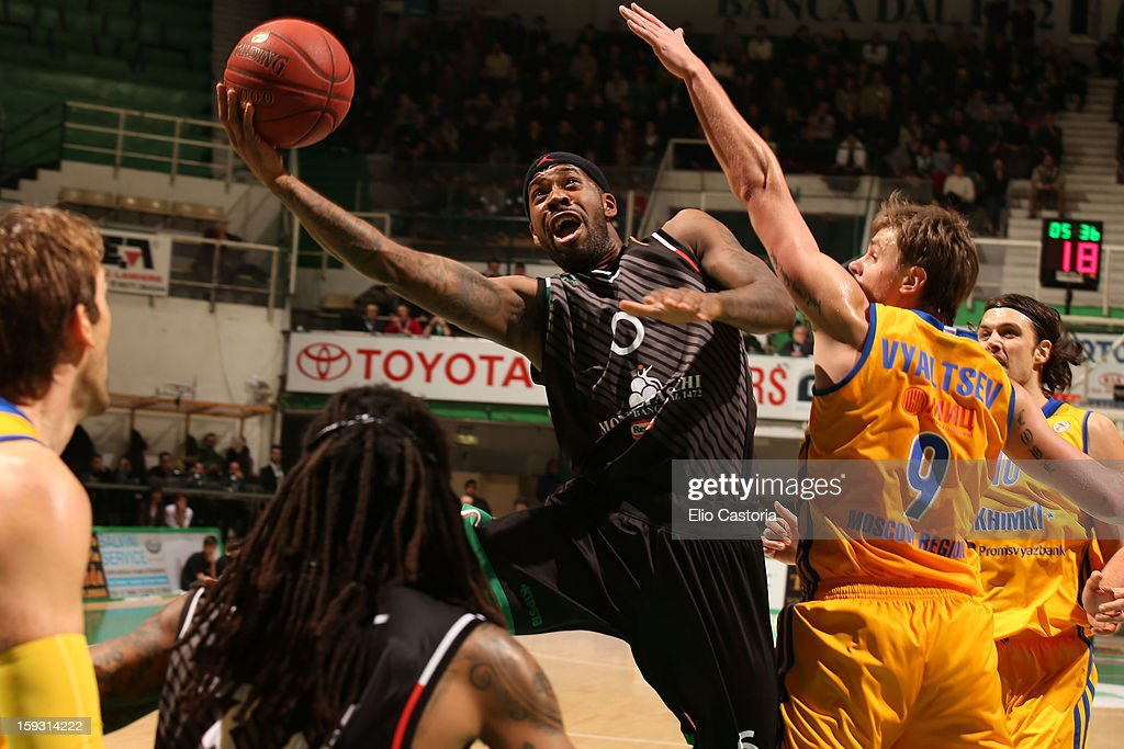 Bobby Brown, #6 of Montepaschi Siena in action during the 2012-2013 Turkish Airlines Euroleague Top 16 Date 3 between Montepaschi Siena v BC Khimki Moscow Region at Palaestra on January 11, 2013 in Siena, Italy.