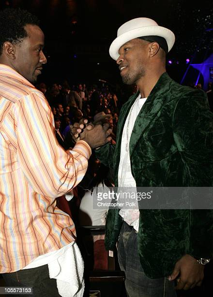 Bobby Brown and Jamie Foxx during 32nd Annual American Music Awards Show at Shrine Auditorium in Los Angeles California United States