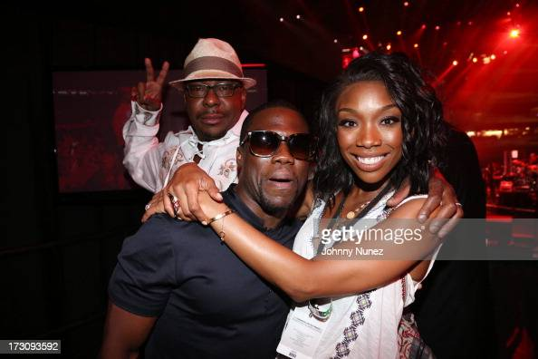 Bobby Brown Kevin Hart and Brandy Norwood attend the 2013 Essence Festival at the MercedesBenz Superdome on July 6 2013 in New Orleans Louisiana