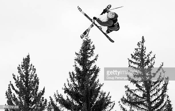 Bobby Brown of the USA goes airborne as he skis in the Men's Ski Slopestyle Elimination during Winter X Games Aspen 2013 at Buttermilk Mountain on...
