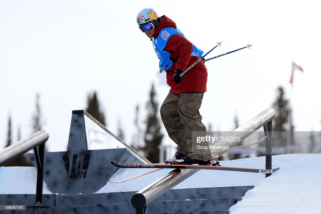 Bobby Brown of the USA slides a rail during qualification for the FIS Freestyle Ski Slope Style World Cup on January 10, 2013 in Copper Mountain, Colorado.
