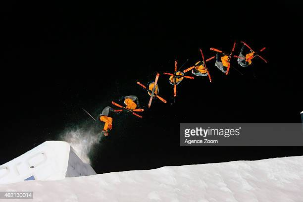 Bobby Brown of the USA takes 2nd place during the Winter X Games Ski Big Air on January 24 2015 in Aspen USA