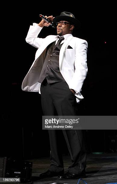 Bobby Brown performs with New Edition at Mohegan Sun Arena on February 18 2012 in Uncasville Connecticut