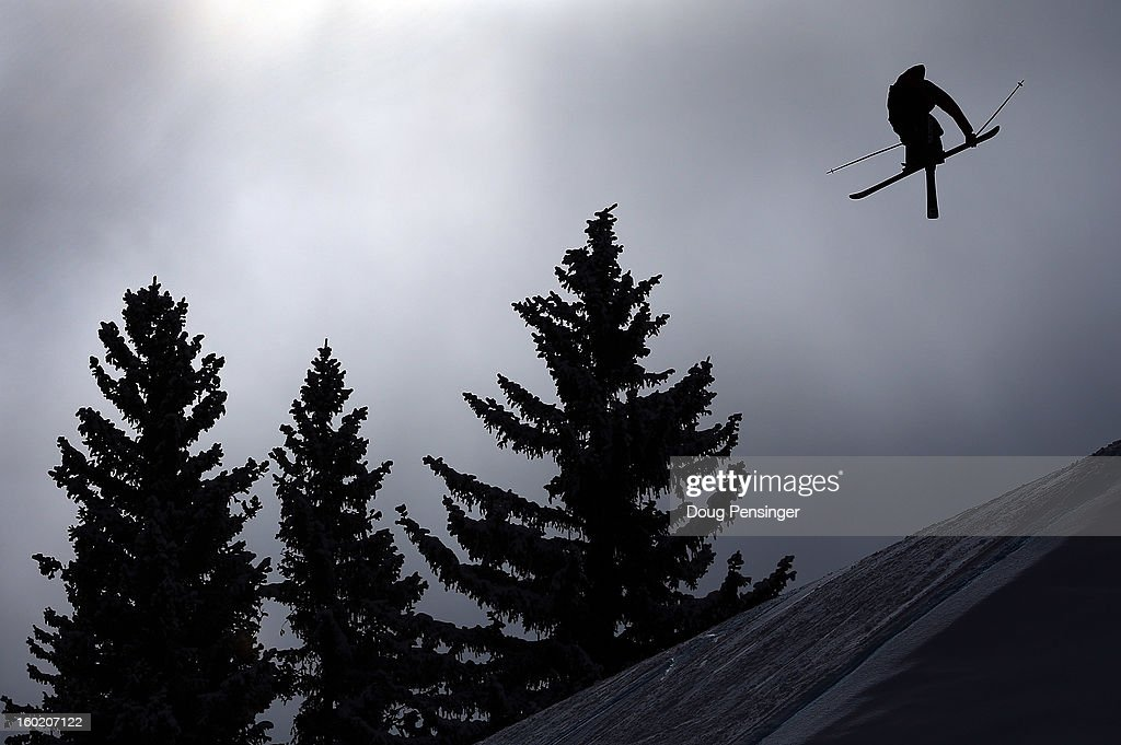 Bobby Brown spins through the air during the Men's Ski Slopestyle Final during Winter X Games Aspen 2013 at Buttermilk Mountain on January 27, 2013 in Aspen, Colorado.