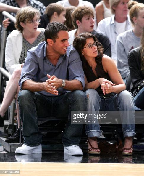 Bobby Cannavale and Annabella Sciorra during Celebrities Attend Los Angeles Sparks vs New York Liberty Game June 3 2006 at Madison Square Garden in...