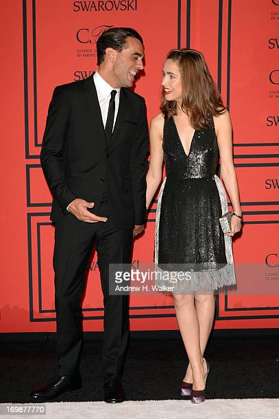 Bobby Cannavale and Rose Byrne attend 2013 CFDA Fashion Awards at Alice Tully Hall on June 3 2013 in New York City