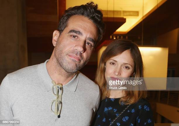 Bobby Cannavale and Rose Byrne pose at the opening night party for The New Group Theater Company's new play 'Whirligig' at Social Drink and Food Club...