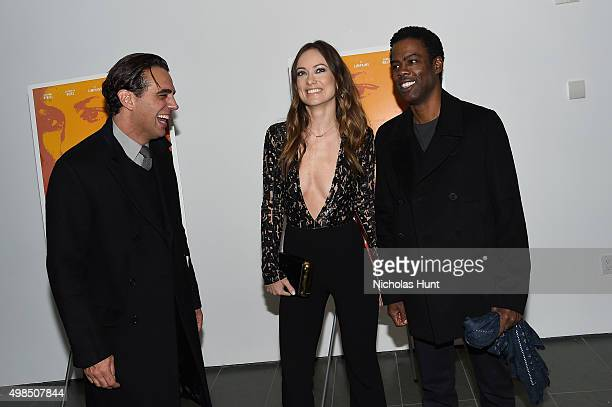 Bobby Cannavale Olivia Wilde and Chris Rock attend the New York screening of 'Meadowland' directed by Reed Morano with Olivia Wilde hosted by Martin...