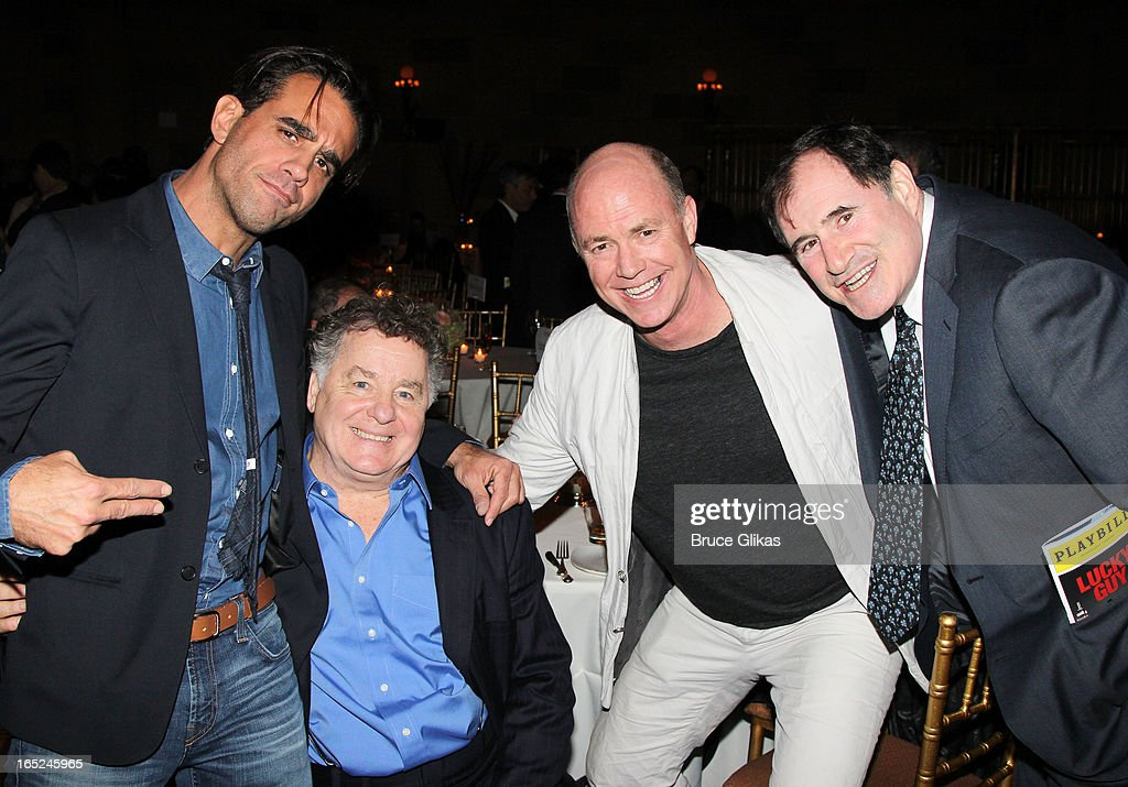<a gi-track='captionPersonalityLinkClicked' href=/galleries/search?phrase=Bobby+Cannavale&family=editorial&specificpeople=211166 ng-click='$event.stopPropagation()'>Bobby Cannavale</a>, Peter Gerety, Michael Gaston and <a gi-track='captionPersonalityLinkClicked' href=/galleries/search?phrase=Richard+Kind&family=editorial&specificpeople=216578 ng-click='$event.stopPropagation()'>Richard Kind</a> attend the opening night party for Broadway's 'Lucky Guy' at Gotham Hall on April 1, 2013 in New York City.