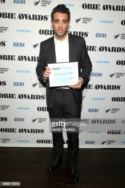 Bobby Cannavale poses with award during the 2017 Obie Awards at Webster Hall on May 22 2017 in New York City