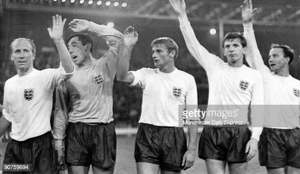 Bobby Charlton Gordon Banks Geoff Hurst Martin Peters George Cohen England went on to win the championship beating Germany in the final