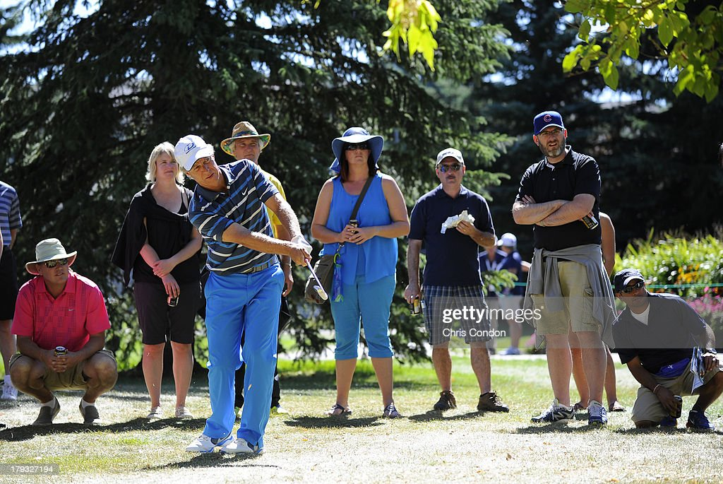 <a gi-track='captionPersonalityLinkClicked' href=/galleries/search?phrase=Bobby+Clampett&family=editorial&specificpeople=2617948 ng-click='$event.stopPropagation()'>Bobby Clampett</a> hits to the 5th green from the rough during the final round of the Shaw Charity Classic at Canyon Meadows Golf & Country Club on September 1, 2013 in Calgary, Alberta, Canada.