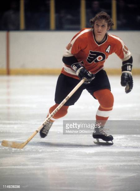 Bobby Clarke of the Philadelphia Flyers skates on the ice during an NHL game circa 1976