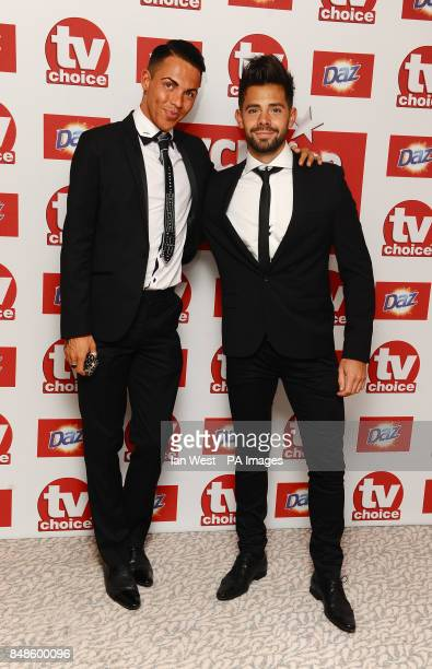 Bobby Cole Norris and Charlie King arrives at the TV Choice Awards at the Dorchester hotel in London