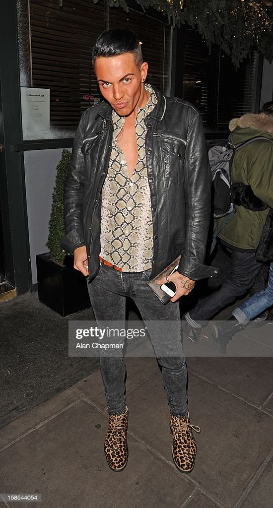 Bobby Cole Norris sighting at the Groucho Club on December 18, 2012 in London, England.