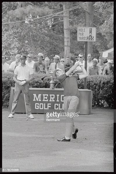 Bobby Cole of South Africa British Amateur Champion uses his $6000 drver to tee off in the opening round of the 1966 US Amateur Championship on 8/31...