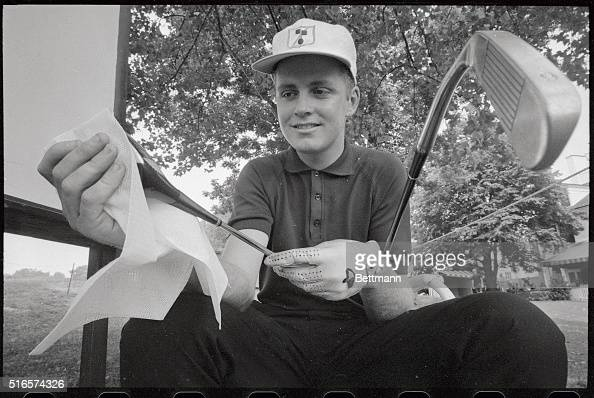 Bobby Cole of Springs Transvasal South Africa and 1966 British Amateur Champion polishes his $600 driver which cost him $125 4 months ago as he...