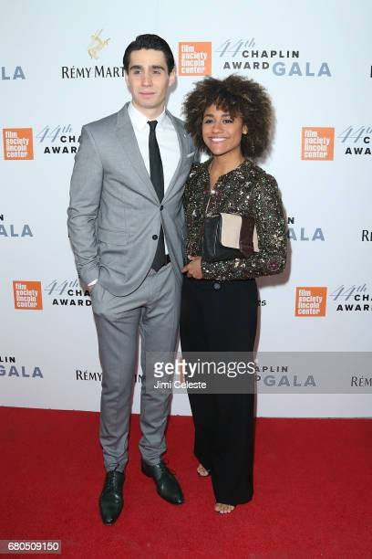 Bobby Conte Thornton and Ariana DeBose attend the 44th Chaplin Award Gala at David Koch Theatre Lincoln Center on May 8 2017 in New York City