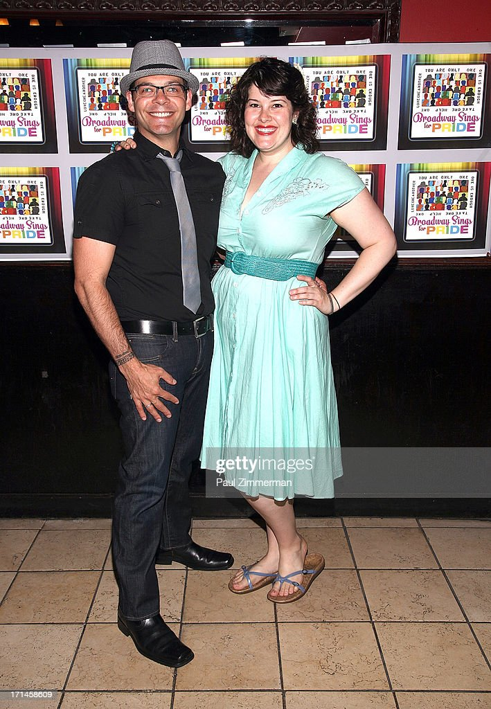 Bobby Cronin and Lauren Elder attend Broadway Sings For Pride NYC 2013 Benefit at Iguana on June 24, 2013 in New York City.