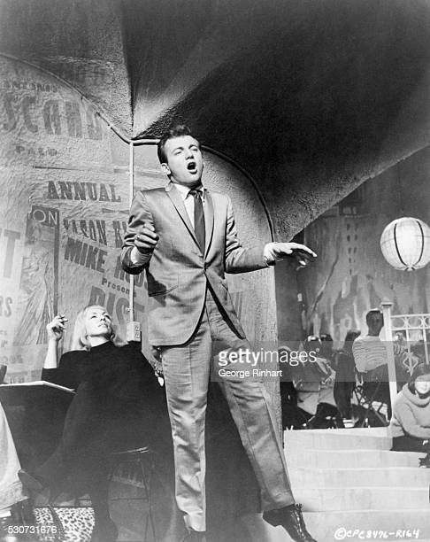 Bobby Darin making his filmdebut in Columbia's Pepe appearing as himself He is singing 'That's How It Went Alright' a tune by Andre Previn and Dory...