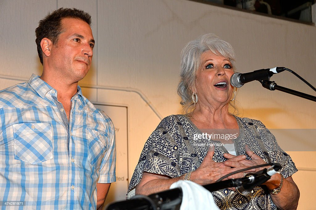 Bobby Deen and <a gi-track='captionPersonalityLinkClicked' href=/galleries/search?phrase=Paula+Deen&family=editorial&specificpeople=875895 ng-click='$event.stopPropagation()'>Paula Deen</a> attend the Thrillist's BBQ & The Blues hosted by Bobby Deen during the Food Network South Beach Wine & Food Festival at Eden Roc Hotel on February 22, 2014 in Miami Beach, Florida.