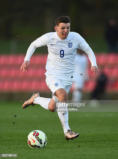 Bobby Duncan of England in action during the International Friendly match between England U15 and Turkey U15 at St George's Park on December 21 2015...