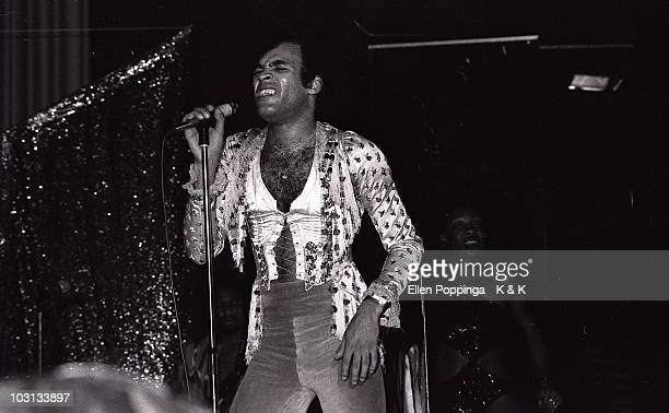 Bobby Farrell from Boney M performs live on stage in Germany in 1977