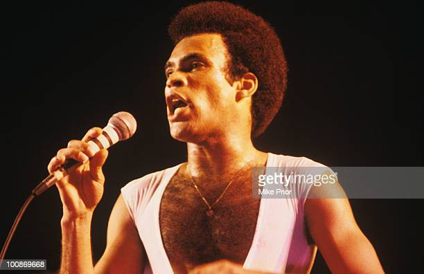 Bobby Farrell of Boney M performs on stage circa 1980