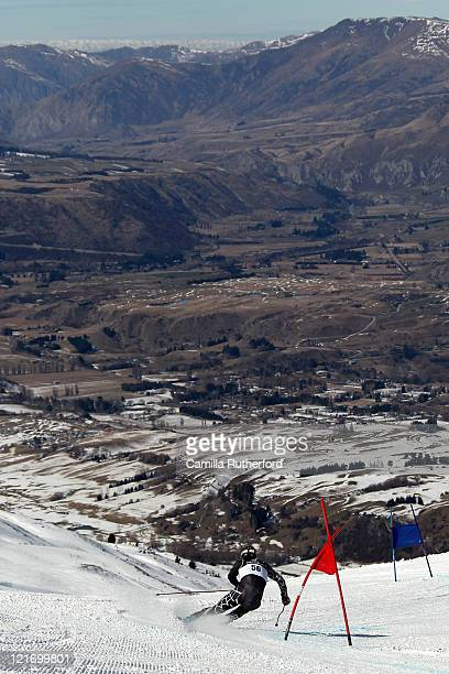 Bobby Farrell of the United States of America competes in the Men's Giant Slalom run two on day 10 of the Winter Games NZ at Coronet Peak on August...