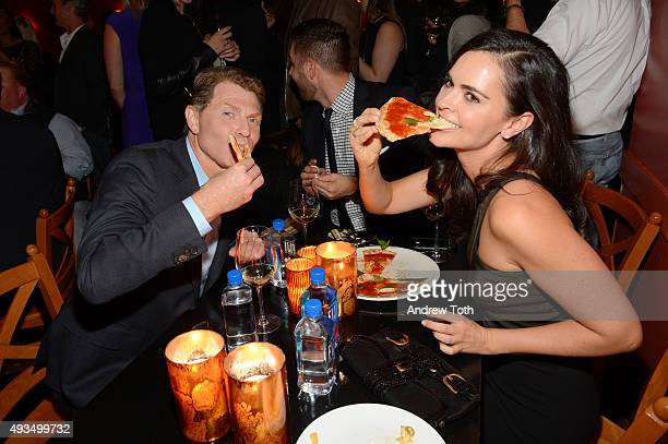 Bobby Flay and Katie Lee attend the New York premiere of 'BURNT' presented by The Weinstein Company Sassoregale Wine Castello Cheese and FIJI Water...