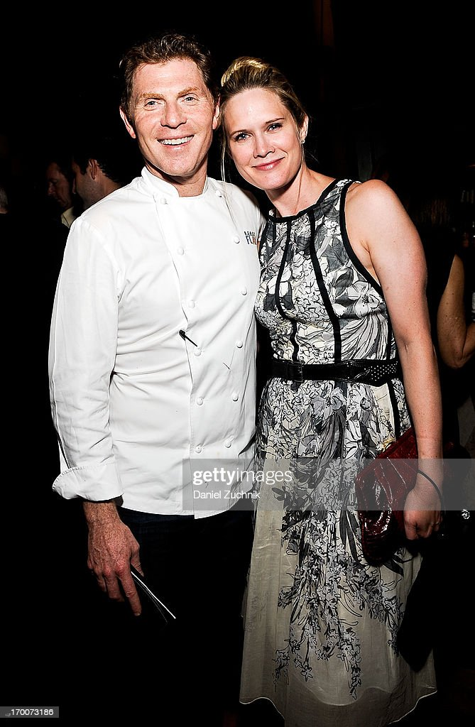 Bobby Flay and Stephanie March attend The Belmont Stakes Charity Celebration Honoring Bobby Flay at Bar Americain on June 6, 2013 in New York City.