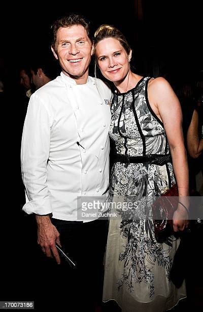 Bobby Flay and Stephanie March attend The Belmont Stakes Charity Celebration Honoring Bobby Flay at Bar Americain on June 6 2013 in New York City