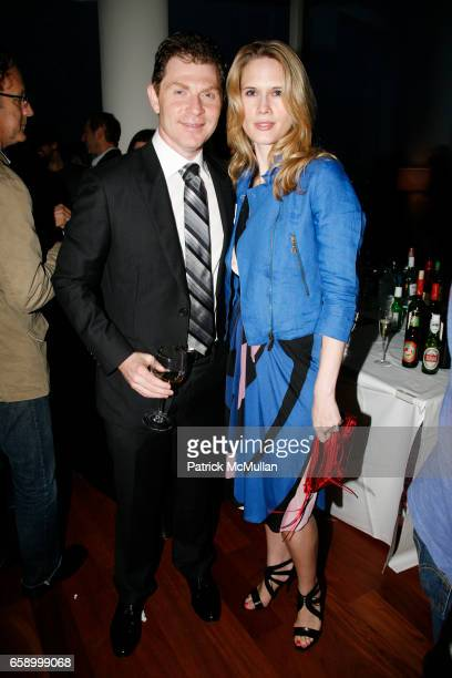 Bobby Flay and Stephanie March attend THE COOPER SQUARE HOTEL MINIBAR EXCLUSIVES UNVEILING at Cooper Square Hotel Penthouse on April 21 2009 in New...