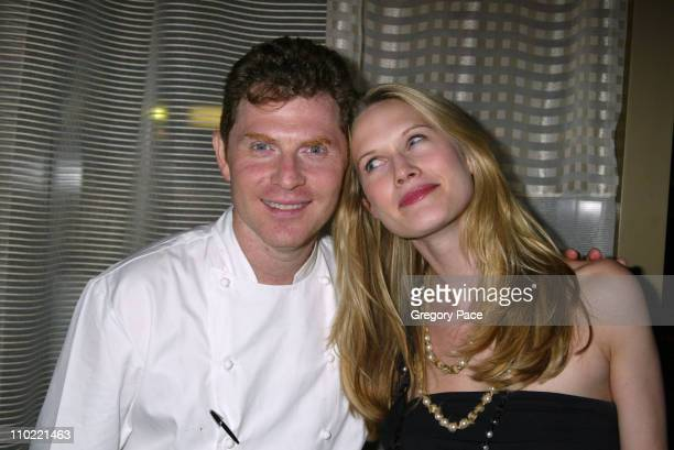 Bobby Flay and Stephanie March during Opening Party For Bobby Flay's New Restaurant Bar Americain at Bar Americain in New York City New York United...